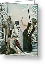 Victorian Christmas Card Greeting Card