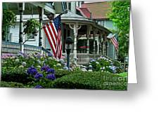 Victorian House And Garden. Greeting Card by John Greim