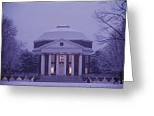 View Of The University Of Virginias Greeting Card by Kenneth Garrett