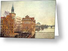 View On A River Greeting Card