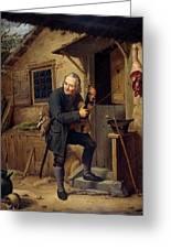Village Violinist Greeting Card