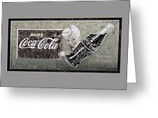 Vintage 1916 Hand Painted Coca Cola Sign Greeting Card
