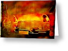 Vintage Car 2 Neons Edition Greeting Card
