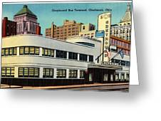 Vintage Cincinnati Postcard Greeting Card