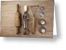 Vintage Cooking Utensils Greeting Card