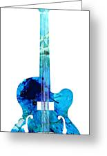 Vintage Guitar 2 - Colorful Abstract Musical Instrument Greeting Card