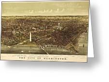 Vintage Map Greeting Card