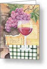 Vintage Pinot Noir Greeting Card