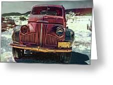 Vintage Studebaker Truck Greeting Card