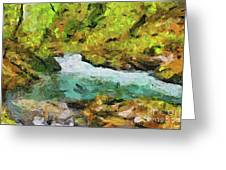 Vintgar Gorge Greeting Card