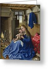 Virgin And Child In An Interior Greeting Card