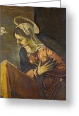 Virgin From The Annunciation To The Virgin Greeting Card