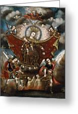 Virgin Of Carmel Saving Souls In Purgatory Greeting Card