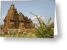 Vishvanatha Temple In Khajuraho Greeting Card