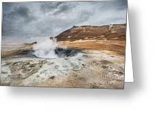 Volcanic Landscape Greeting Card