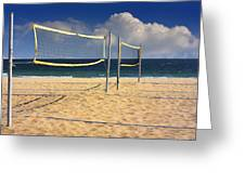 Volleyball Net Greeting Card