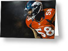 Von Miller Greeting Card