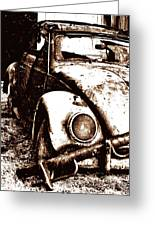 Vw Sepia Greeting Card