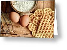 Waffles And Eggs Greeting Card