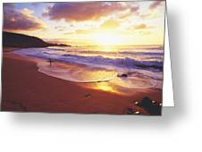 Waimea Bay Sunset Greeting Card