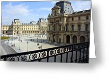 Walking At The Louvre Greeting Card
