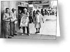 Walking Billboard Nevada Club Reno Nevada 1977 Greeting Card