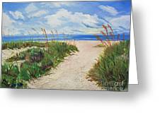 Walking In The Sand Greeting Card