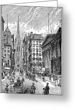 Wall Street, 1889 - To License For Professional Use Visit Granger.com Greeting Card