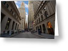 Wall Street Greeting Card