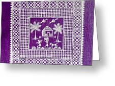 Warli Life  Greeting Card