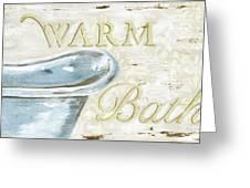 Warm Bath 2 Greeting Card