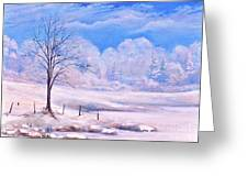 Warm Cold Day Greeting Card