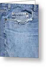 Worn Jeans Greeting Card