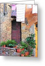 Washing Day Tuscany Greeting Card