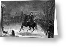 Washington At The Battle Of Trenton Greeting Card