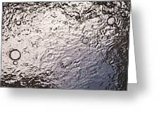 Water Abstraction - Liquid Metal Greeting Card