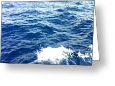 Water Crash  Greeting Card