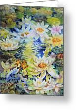 Water Garden Greeting Card by Ann  Nicholson