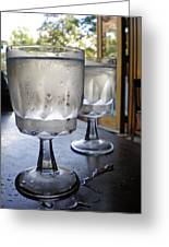 Water Glasses Sweating Greeting Card