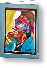 Water Healing Ceremonial Chief Yaz Greeting Card