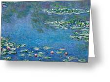 Water Lilies 1906 Greeting Card