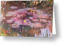 Water Lilies 1917 Greeting Card