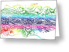 Water Pattern Greeting Card