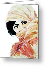 Watercolor Muslim Women Greeting Card