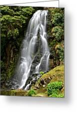 Waterfall At Azores Greeting Card