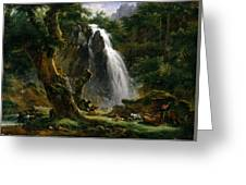 Waterfall At Mont-dore Greeting Card