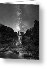 Waterfall Milky Way Greeting Card