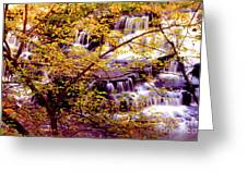 Waterfalls And Fall Colors Greeting Card