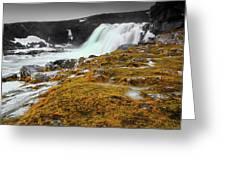 Waterfalls Of Iceland Greeting Card