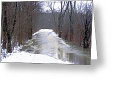 Watery Road Greeting Card